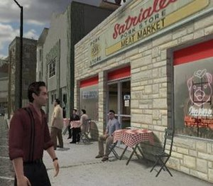 The Sopranos: Road to Respect - Joey going to talk to Paulie at Satriale's.