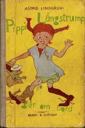 Pippi Longstocking - Pippi Longstocking as illustrated by Ingrid Vang Nyman on the Swedish cover of Pippi Goes On Board