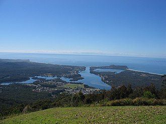 Laurieton, New South Wales - Laurieton from North Brother Mountain