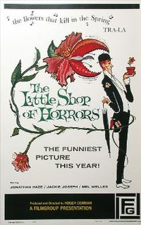 <i>The Little Shop of Horrors</i> 1960 American comedy horror film directed by Roger Corman