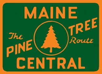 Maine Central Railroad Company - Image: Maine central pine tree route herald