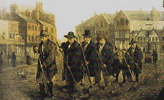 Manchester School of Painters - Oldham Street Sweepers 1873, Gallery Oldham
