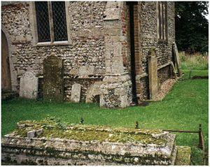 Bintree -  Richard Enraght's gravestone at St Swithun Church, Bintree