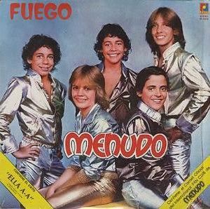 Fuego (Menudo album) - Image: Menudo Fuego