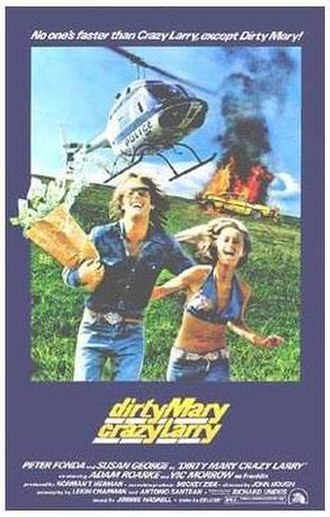 Dirty Mary, Crazy Larry - Theatrical release poster