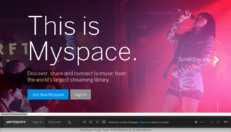 Myspace - Image: Myspace Homepage