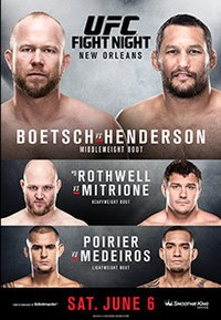 A poster or logo for UFC Fight Night: Boetsch vs. Henderson.