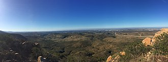 North Fortuna Mountain - Panorama from the Summit looking west toward Point Loma