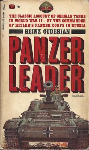 Panzer Leader (book) - Cover of the Ballantine Book abridged version