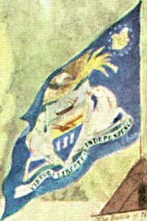 Flag and coat of arms of Pennsylvania - The flag as it appears in an 1819 painting