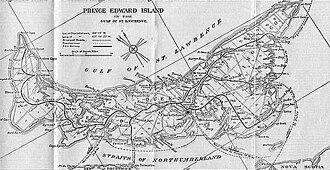 Prince Edward Island Railway - Image: Prince Edward Island Railway Map