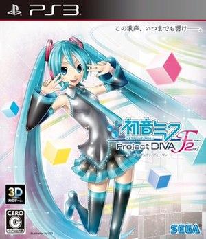 Hatsune Miku: Project DIVA F 2nd - European PlayStation Vita cover art