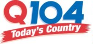 "CJQM-FM - CJQM-FM's former logo under the ""Q104"" branding"