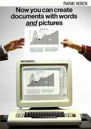 Xerox Star - Rank Xerox brochure for 8010/40 system