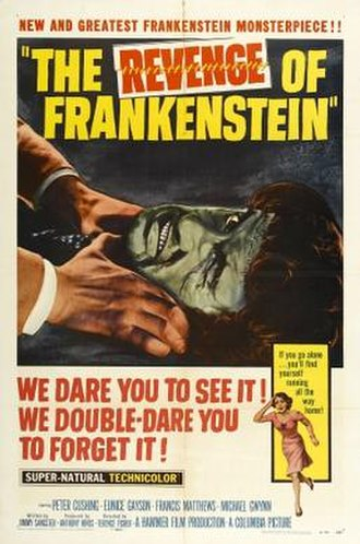 The Revenge of Frankenstein - Theatrical release poster