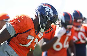 Russell Okung - Image: Russel Okung Broncos Practice 2016 2