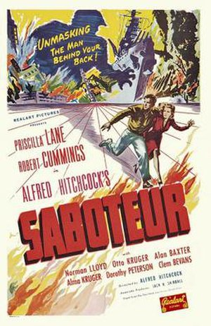 Saboteur (film) - Theatrical poster