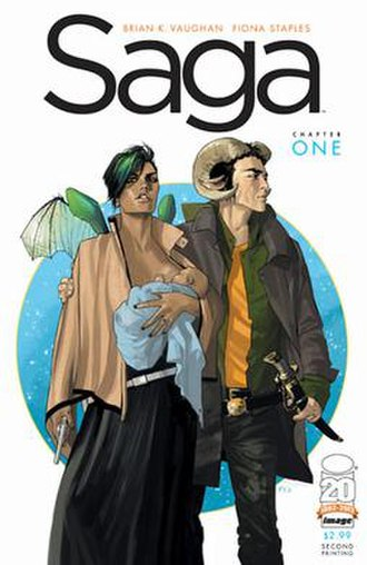 Saga (comics) - Image: Saga 1cover By Fiona Staples