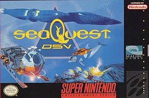SeaQuest DSV (video game) - Packaging for the Super NES version
