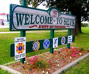 Silvis, Illinois - Silvis, Illinois welcome sign