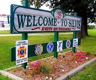 Silvis, Illinois - Silvis, Illinois welcome sign