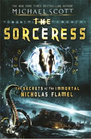 The Sorceress: The Secrets of the Immortal Nicholas Flamel - Alternative cover for the UK edition released 5 August 2010.