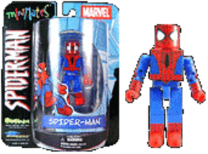 "Minimates - 2"" Spider-Man Minimate in early Marvel Minimate packaging"