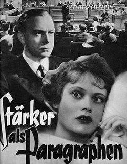 <i>Stronger Than Regulations</i> 1936 film directed by Jürgen von Alten