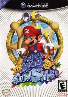 <i>Super Mario Sunshine</i> 2002 platform video game developed by Nintendo