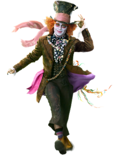 Tarrant Hightopp Mad Hatter in 2010 film Alice in Wonderland