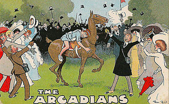 "The Arcadians (musical) - Climax of Act II, with Simplicitas riding ""The Deuce"""