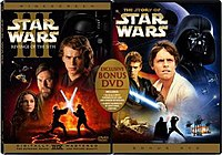 The Story of Star Wars alongside the Revenge of the Sith DVD