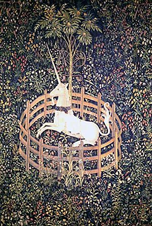 The Unicorn Is Penned, Unicorn Tapestries, c. ...