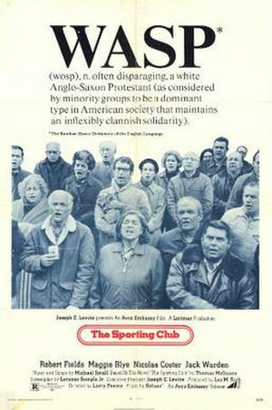 The Sporting Club (film) - Theatrical release poster
