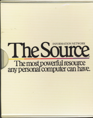The Source (online service) - Originally, accounts on The Source were sold via retail packages which included manuals along with access information.