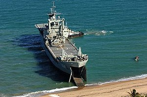 HMAS Tobruk (L 50) - HMAS Tobruk beaching during an exercise in 2006