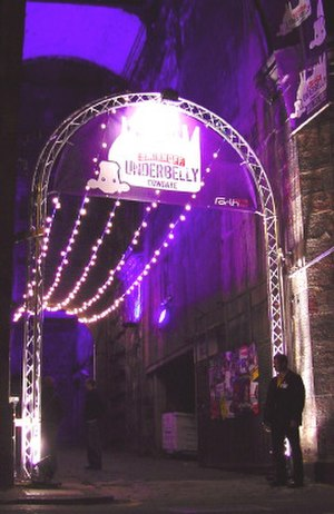 Underbelly (venue) - The front entrance to Underbelly on Cowgate