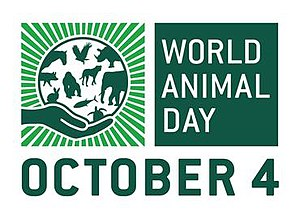 World Animal Day - World Animal Day logo in English