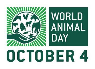 World Animal Day - World Animal Day logo in English