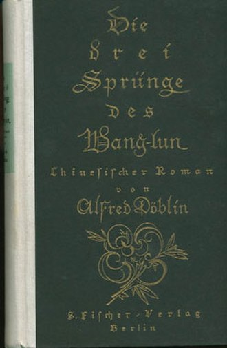 Alfred Döblin - Cover of the first edition of Die drei Sprünge des Wang-lun