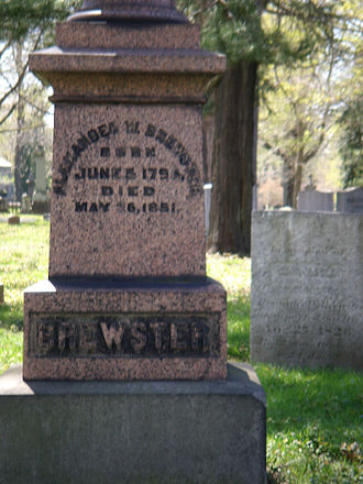 Erie Cemetery - Alexander Brewster was the first person buried at the cemetery.