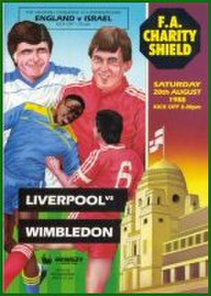 1988 FA Charity Shield - The match programme cover
