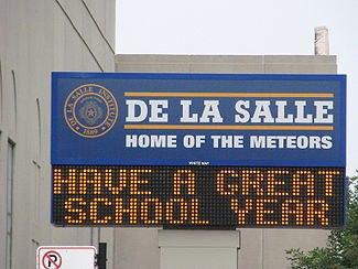 20070906 De La Salle Institute Sign