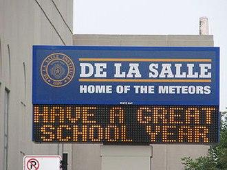 De La Salle Institute - Image: 20070906 De La Salle Institute Sign