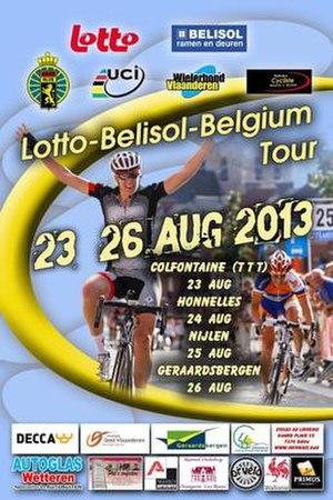 2013 Belgium Tour - Poster of the event featuring Ellen van Dijk