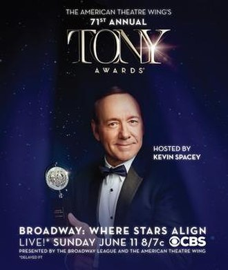 71st Tony Awards - Image: 71st Tony Awards poster