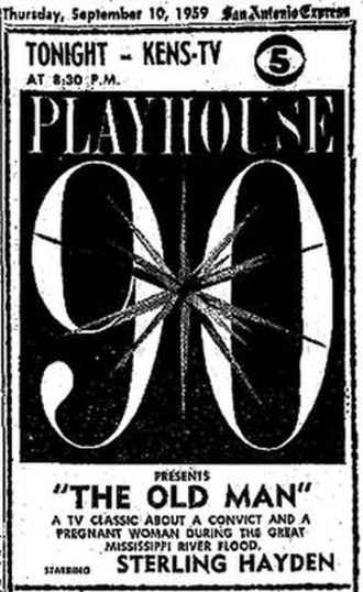 Playhouse 90 - Note that the ad for this repeat, a production adapted from William Faulkner's story, makes no mention of Faulkner