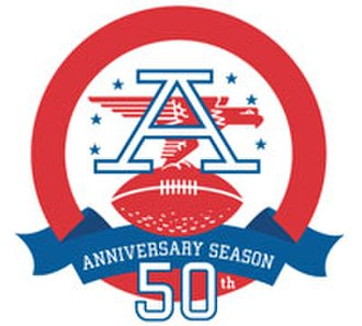 American Football League - AFL 50th Anniversary Logo