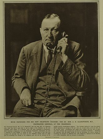 Postmaster General of the United Kingdom - Albert Illingworth 1916–1921