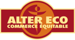 "Alter Eco company logo: ""Alter Eco, French: commerce equitable"